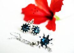 navy blue swarovski crystal jewelry set art deco clear by sestras