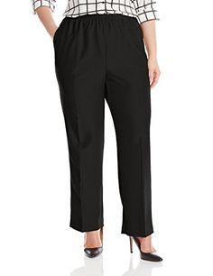 Alfred Dunner Womens Plus Average Pant Black 24W >>> Be sure to check out this awesome product.(This is an Amazon affiliate link and I receive a commission for the sales)