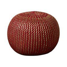 Amskroud Modern Pouf Ottoman Upholstery: Red with Gold Foil - http://delanico.com/ottomans/amskroud-modern-pouf-ottoman-upholstery-red-with-gold-foil-602928296/