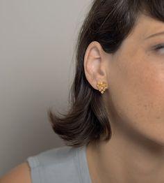 Dot Stud Earrings, Gold Stud Earrings for Women, Minimalist Stud Earrings, Unique Gold Stud Earrings, Minimalist Jewelry, Cluster Earrings