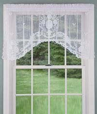 Floral Point Lace Crescent Valance