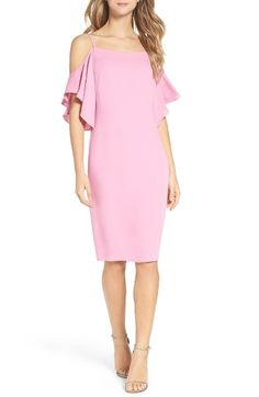 Main Image - Laundry by Shelli Segal Cold Shoulder Midi Dress