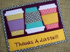 Coffee Cups Mini Quilt | Quilting Pattern | YouCanMakeThis.com