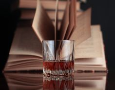 I love sitting back with a good drink and a great book.