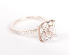 Gorgeous cushion cut. Simple, delicate.