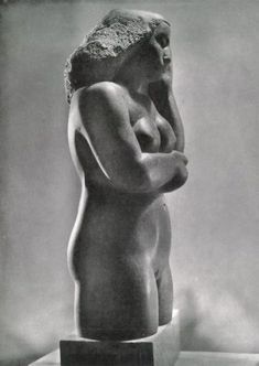 Contemplative Figure, Polyphant stone, 1928 a Abstract Sculpture, Sculpture Art, Augusta Savage, Louise Nevelson, Tate Gallery, Barbara Hepworth, Stone Sculpture, Sculpting, Statue