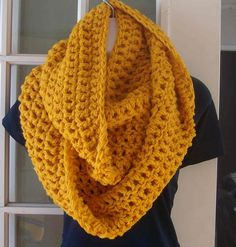 Gold infinity cowl scarf neckwarmer by MatsonDesignStudio on Etsy, $24.00