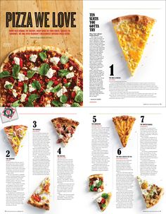I like this page layout for this pizza magazine. I like how simple and easy it gives the information. I like this page layout for this pizza magazine. I like how simple and easy it gives the information. Food Magazine Layout, Magazine Page Layouts, Magazine Layout Design, Editorial Design, Editorial Layout, Web Design, Food Design, Magazine Design Inspiration, Layout Inspiration