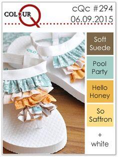 colourQ: colourQ challenge #294...Soft Suede, Pool Party, Hello Honey, So Saffron