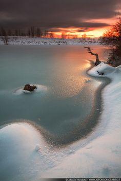Frozen Sunset by Alfonso Morabito, via 500px
