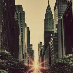 Rays of golden light