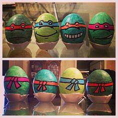 Teenage Mutant Ninja Turtle Easter Eggs by MightyMusc on DeviantArt Boys Easter Basket, Easter Baskets To Make, Ninja Turtle Party, Ninja Turtles, Mutant Ninja, Teenage Mutant, Easter Games, Coloring Easter Eggs, Egg Decorating