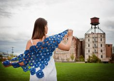 Sullivan's Spring Shawlette pattern by Shannon Squire: from Neighborhood Crochets: 2014 Rose City Yarn Crawl Pattern Collection (eBook). Photography by Joanna Schilling of Ember Owl Photography.