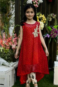 Tamara x factor red dress extender Little Girl Dresses, Girls Dresses, Woman Dresses, Kids Party Wear, Kids Wear, Kids Gown, Kids Suits, Babe, Kids Frocks