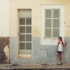Blue Porto Cristo Aga, Garage Doors, Outdoor Decor, Blue, Photography, Home Decor, Porto, Photograph, Decoration Home