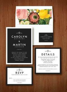 Convites de casamento originais, vintage e chic Image: 10
