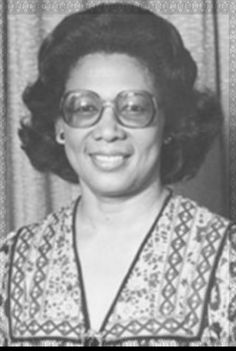 FIRST LADIES OF GUYANA - VIOLA BURNHAM - Viola Burnham was the wife of the late Linden Forbes Sampson Burnham, the first  Executive President of Guyana who died in 1985.  She was the first female to be appointed Vice-President  and Deputy Prime Minister in the late 1980's.  She was a Latin teacher until 1967 and also served as the Ministers of Education, Social Development and Infrastructure in the Government of Guyana, under both her husband and, later, President Hugh Desmond Hoyte. (V)