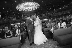 Bride and groom. Carnival paradise cruise wedding 11/16/17. Normandy lounge.