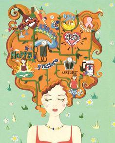 Vicky Scott Top Sante Health Illustration www.vickysworld.co.uk