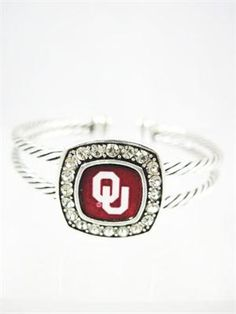 OU Sooners Cuff Bracelet....Yep, I have this one.