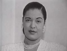 RARE PIC: Billie Holiday in the late 1940's.