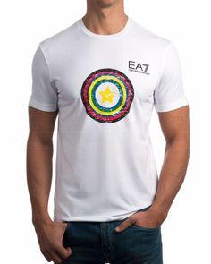 Camisetas EA7 Emporio Armani Blanca - Estrella