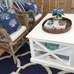 """313 Likes, 21 Comments - Hamptons Style (@hamptonsstyle) on Instagram: """"We've bought back a firm favourite instore ~ our X-side coffee table. It sits perfectly with our…"""""""