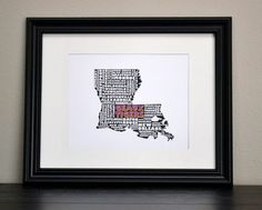 LOUISIANA LSU TIGERS Cities Collage Print Or by bandaprints, $12.50