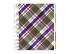 2014-2015 life planner -rad plaid 2015 only Teal/Navy color combo Personalized with First and Last Name