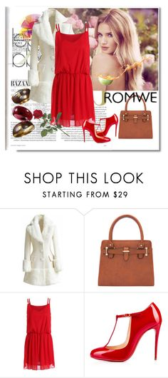 """""""Romwe 10"""" by aida-1999 ❤ liked on Polyvore featuring Whiteley and Christian Louboutin"""