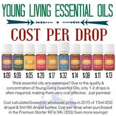 A little goes a long way so the actual cost per drop could save you money, depending on what product you can replace with Young Living essential oils. I've saved money and I know what's going in and on my body! Essential Oils 101, Ginger Essential Oil, Essential Oil Blends, Purification Essential Oil, Young Living Oils, Young Living Essential Oils, Yl Oils, Aromatherapy Oils, Aromatherapy Recipes