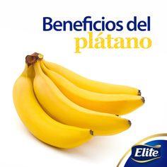 ¡Descubre los 5 beneficios del plátano!   1.Disminuye los cólicos y la retención de líquidos. 2.Elimina el estreñimiento 3.Baja los niveles del estrés. 4.Mejora el estado de ánimo. 5.Controla la presión arterial alta.  Agrégalo a tu dieta cotidiana, se recomienda de 3 a 5 plátanos a la semana.