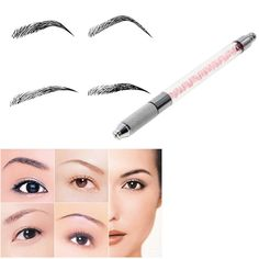 VANKER Manual Cosmetic Tattoo Eyebrow Pen Tattoo Machine For Permanent Makeup. High stability and perfect products. Don't need the power to do tattoo beauty operation. Special design needle entrance, Just tighten and then it can grip the needle firmly. Operate more easily freehand brushwork, long-term use. Good looking, Graceful and practical shape makes more Comfortable to use.