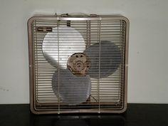 Vintage Edison Toastmaster Metal Box Floor Window Fan Mid Century MoD Eames Era