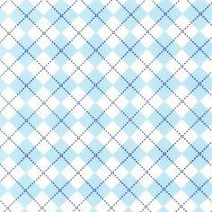 Tissu Remix Carreaux Sky x10cm