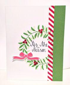 'Tis The Season Wreath Card #averyelle | www.laurentaylormade.com