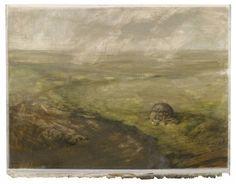 zonder titel, 2012, tempera op geprepareerd papier, 55 x 73 cm - Tinus Vermeersch