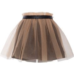 Yufash - Black Belt Layered Skirt