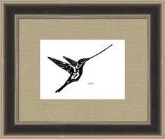 hummingbird sword billed 13q, by  fractal mandala art
