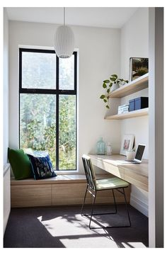 Dream Home Design, Home Office Design, Home Office Decor, Home Decor, Study Room Design, Study Room Decor, Minimal House Design, Small Apartment Interior, Small Home Offices