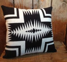 black and white pendleton pillow