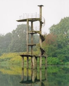 Concrete Architecture, Modern Architecture, Abandoned Buildings, Abandoned Places, Diving Board, Pool Accessories, Building Art, Pool Water, Water Tower