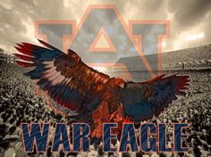 "Amazon.com : Auburn Tigers Football Poster ""War Eagle"" Authentic ..."