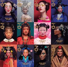 12 covers for i-D magazine by MAC collaborator Chen Man