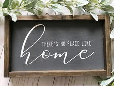 Theres No Place Like Home Sign Home Sweet Home Housewarming Gift Modern Farmhouse Wood Sign DIY Wood Signs Farmhouse Gift Home Housewarming Modern place Sign Sweet Wood Wood Signs For Home, Diy Wood Signs, Welcome Home Signs, Reclaimed Wood Signs, Pallet Signs, Wood Signs Sayings, Wooden Sign Quotes, Diy Holz, Chalkboard Art