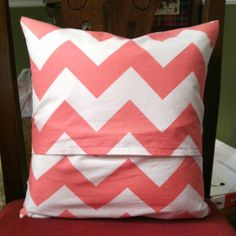 DIY slip on pillow cover! Perfect for homes with pets! Easy to remove & wash!