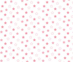 Stars Scattered - Coral on White fabric by cavutoodesigns on Spoonflower - custom fabric