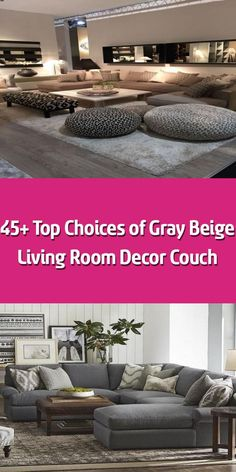 Stone-gray living room decor receives a boost from orange accents and contemporary lamps. The perfect office furnishings fit perfectly and provides lots of r Beige Living Room Decor, Living Room Renovation, Room Renovation, Living Room Designs, Living Room Grey, Room, Beige Living Rooms, Room Decor, Couches Living