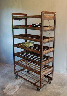 Vintage Factory Shoe Rack.