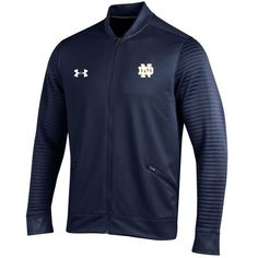 Notre Dame Fighting Irish Under Armour Knockout Warm Up Jacket   Navy